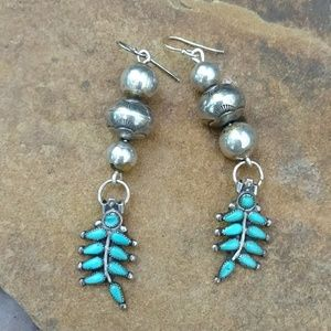 Zuni and Navajo pearl sterling earrings
